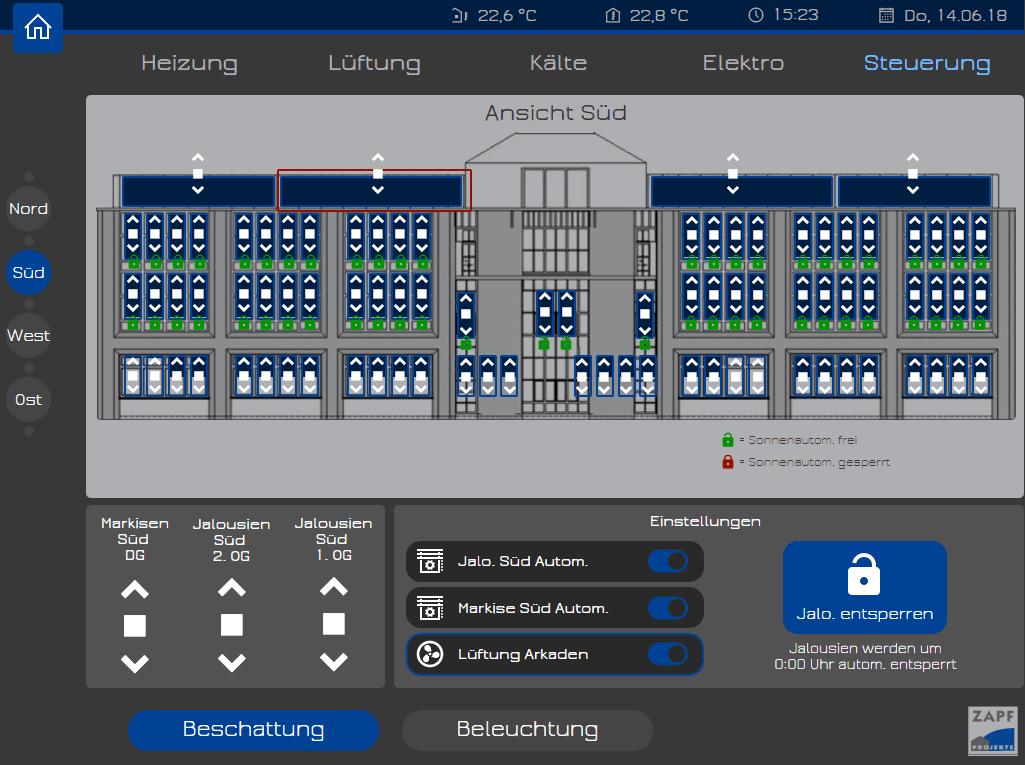 Gebäudeautomation Beschattungssteuerung