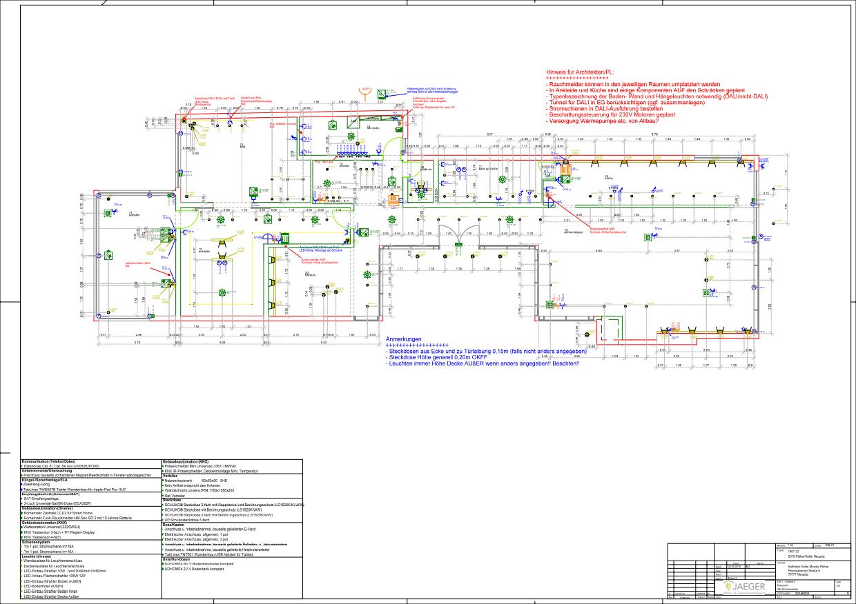 Elektroplanung Smarthome Raumplanung 2D